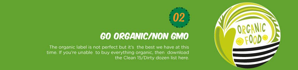 The organic label is not perfect but it's the best we have at this time. If you're unable to buy everything organic, then download the Clean 15/Dirty dozen list from www.ewg.org