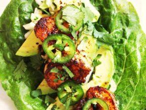 Shrimp and Avocado Lettuce Wraps