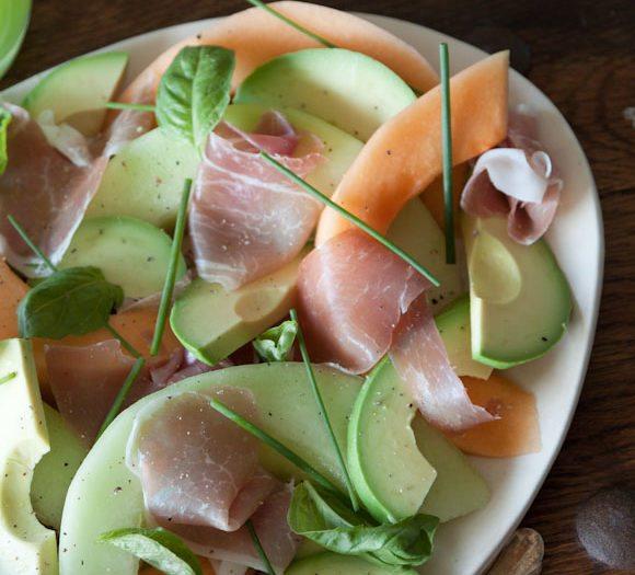 Prosciutto Melon Salad