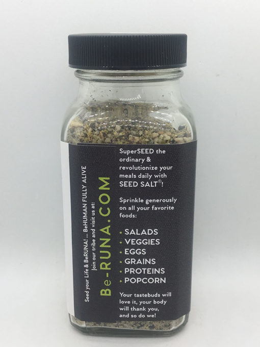 be Runa Sprouted Superfood Seed Salt - Black Truffle