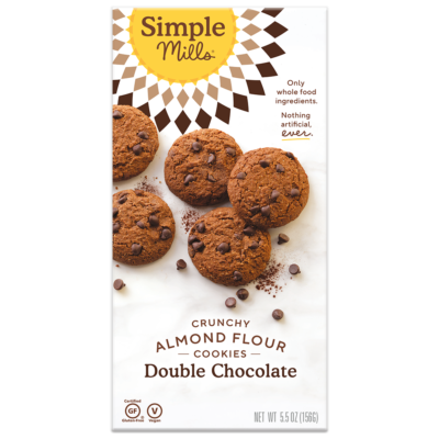 simple mills double chocolate crunchy cookies