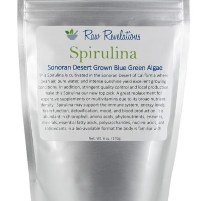 Raw Revelations Spirulina - Front of Package