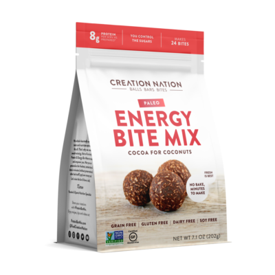 Creation Nation Energy Bites, Front of Product