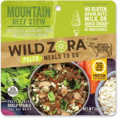 Wild Zora Mountain Beef Stew, Front of Product