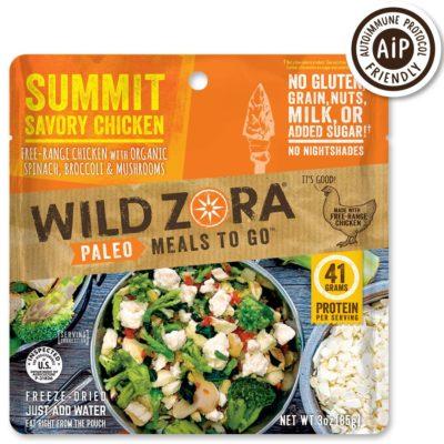 Wild Zora Summit Savory Chicken - Front of Package