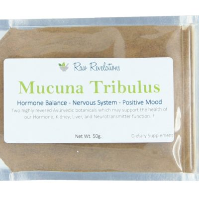 Raw Revelations Mucuna Tribulus - Front of Package