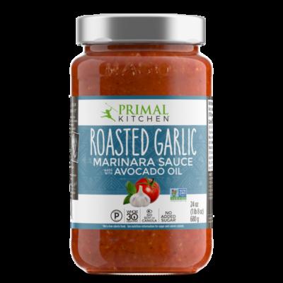 Primal Kitchen Roasted Garlic Marinara Sauce - Front of Package