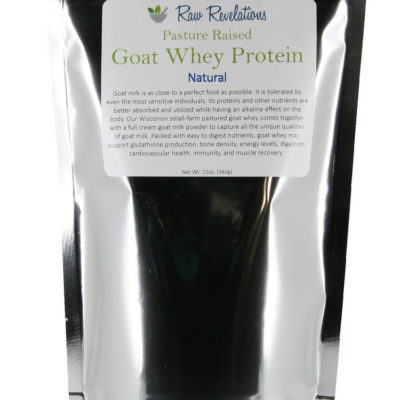 Raw Revelations Goat Whey Protein - Front of Package