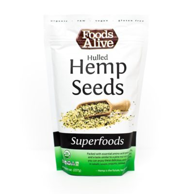 Foods Alive Hemp Seeds - Front of Package