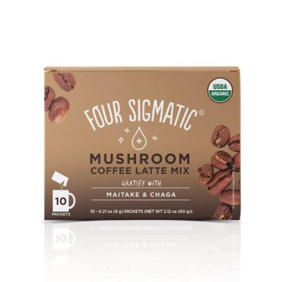 Four Sigmatic Mushroom Coffee Latte Mix with Maitake & Chaga - Front of Package