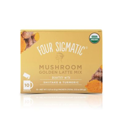 Four Sigmatic Golden Latte Mix with Shiitake & Turmeric - Front of Package