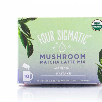 Four Sigmatic Mushroom Matcha Latte Mix with Maitake - Front of Package