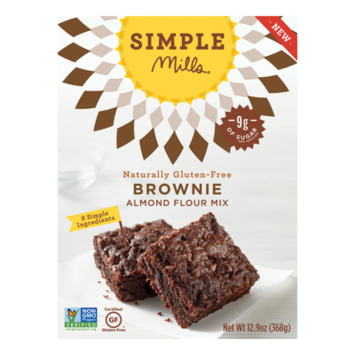 Simple Mills Almond Flour Brownie Mix - Front of Package
