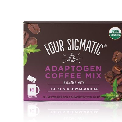 Four Sigmatic Adaptogen Coffee Mix with Tulsi & Ashwagandha) - Front of Package