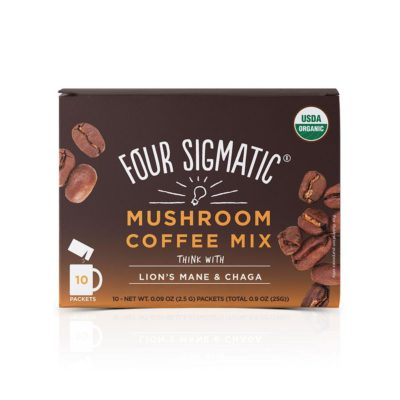 Four Sigmatic Mushroom Coffee Mix with Lions Mane & Chaga - Front of Package