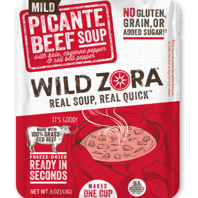 Wild Zora Picante Beef Soup - Front of Package