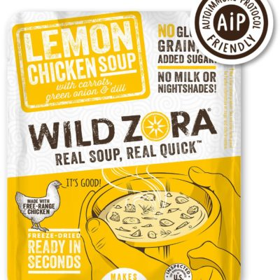 Wild Zora Lemon Chicken Soup - Front of Package