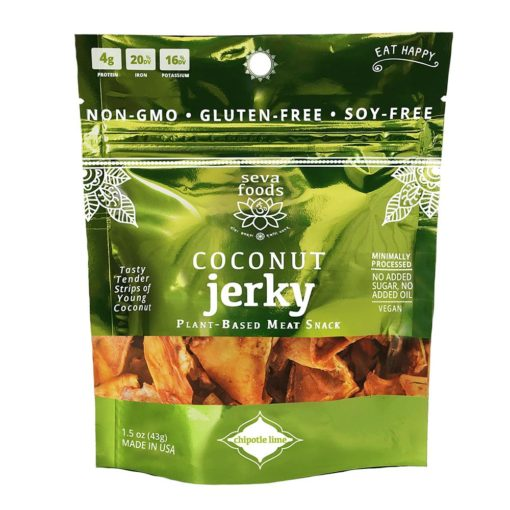 Seva Foods Organic Coconut Jerky (Chipotle Lime) - Front of Package