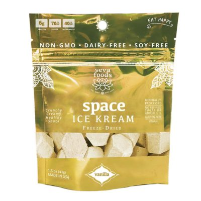 Seva Foods Organic Space Ice Kream (Vanilla) - Front of Package