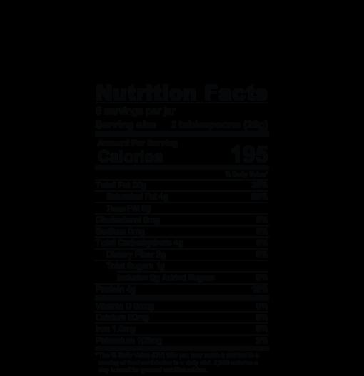Dastony Macadamia Nut Butter Nutrition