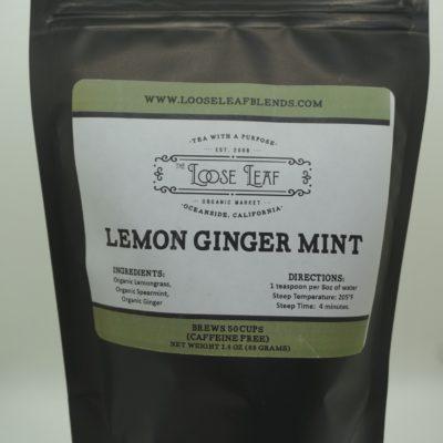 Lemon Ginger Mint Tea