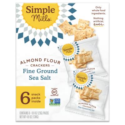 simple mills sea salt crackers snack packs
